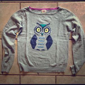 Mossimo Owl Intarsia Sweater