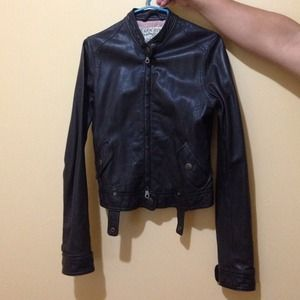 Abercrombie rollins leather jacket