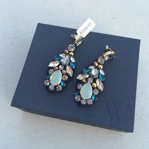 J. Crew Jewelry - Embroidered jewel earrings