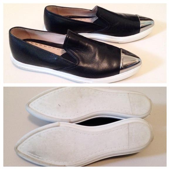 4fb22091935 Miu Miu Cap Toe Sneakers Black - Ontario Active School Travel