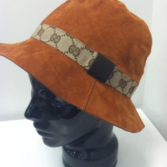 c2bf0a1ff GUCCI authentic burnt orange suede bucket hat!!