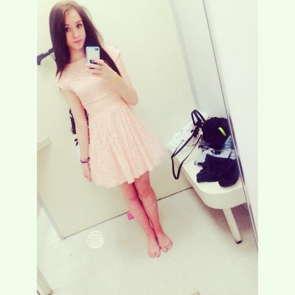 Macy S Dresses Light Pink Floral Lace Dress Poshmark