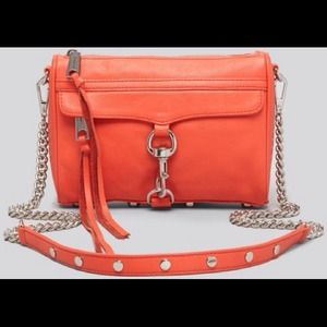 Rebecca Minkoff Handbags - NEW Rebecca Minkoff Mini Mac Blood Orange