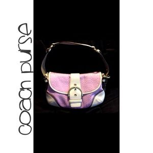 Authentic Coach Soho Purse Pink/White