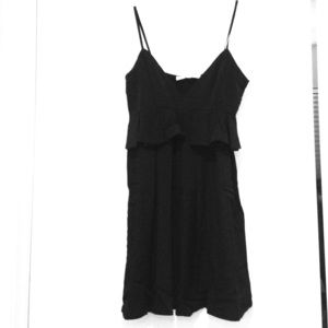 Black Frill front shift dress