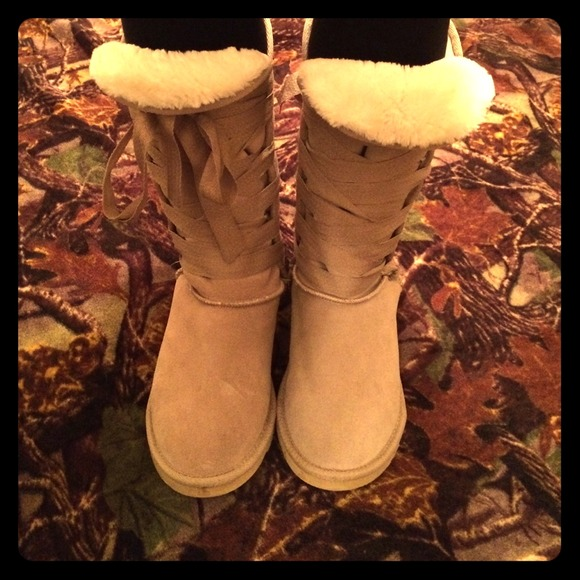 UGG Shoes | Ugg Tie Front Boots | Poshmark