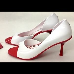 Melissa Grendene Spice Red /& White Brazilian Shoes Size 8