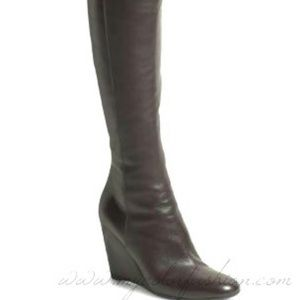 Sergio Rossi Shoes - Sergio Rossi brown long leather boots 7