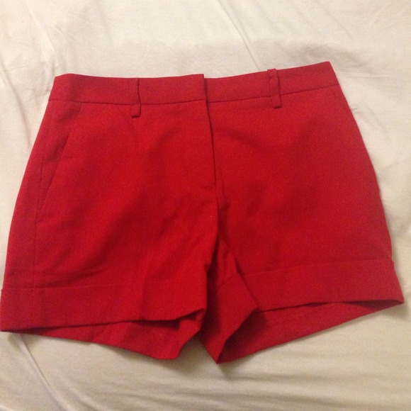 67% off Forever 21 Pants - Red tailored shorts from Jasmine's ...