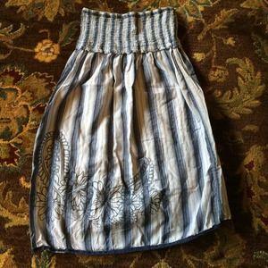 Mossimo strapless blue striped sun dress.