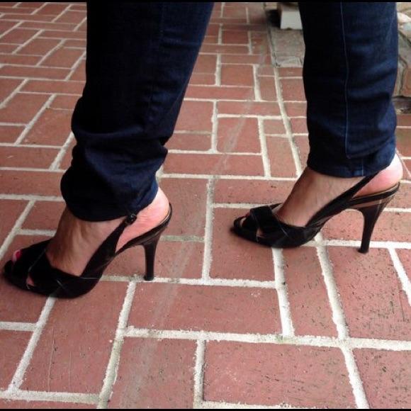 Cole Haan Peep Toe Patent Leather