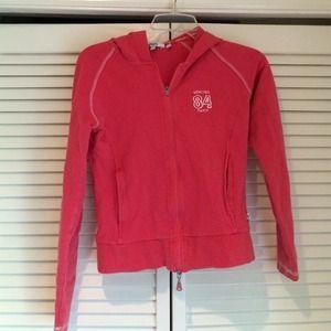 Vertigo Paris pink hooded zip up jacket .