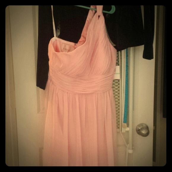Cute bridesmaid homecoming pink formal dress