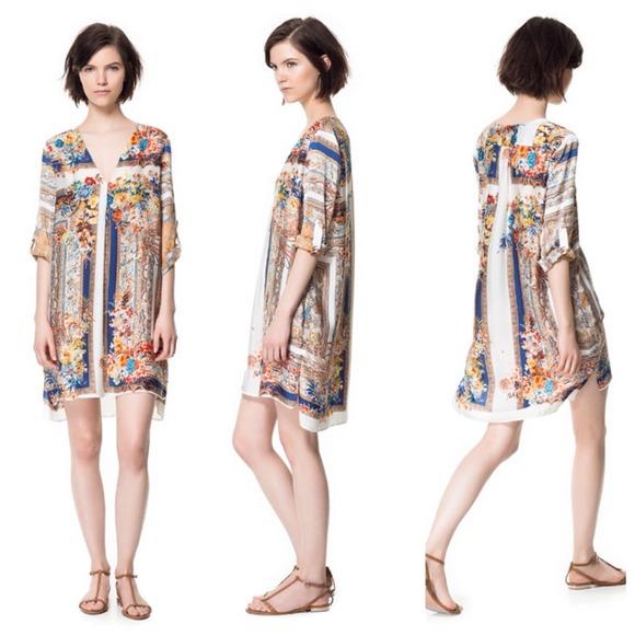 2939e0e92c Zara Scarf Print Tunic (Dress  Cover Up). M 544979f2e84b030529001c3f