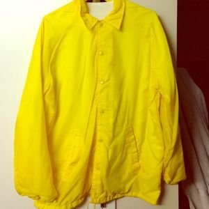 Yellow raincoat.