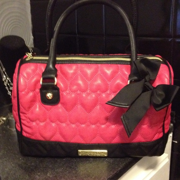 65% off Betsey Johnson Handbags - Hot Pink and Black Betsey ...