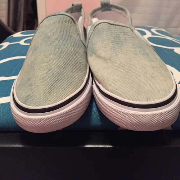 h m denim slip on sneakers worn once from dsgb s closet