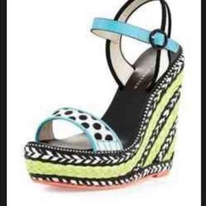 SOPHIA WEBSTER 'Lucita' Wedge Sandal size 9/39