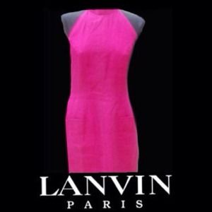 Lanvin Dresses & Skirts - VINTAGE AUTH LANVIN LINEN 2 POCKET HALTER DRESS