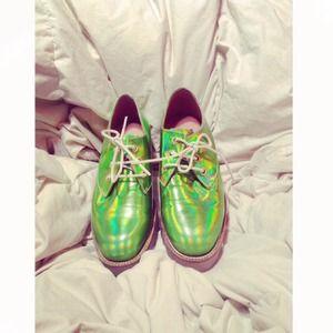 TBA Hologram Oxford Shoes NWOT