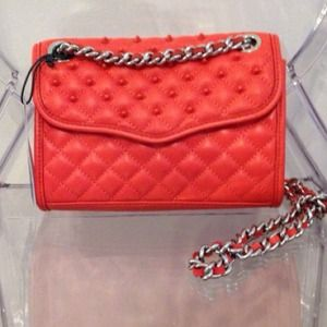 Rebecca Minkoff Red studded quilted affair Mini