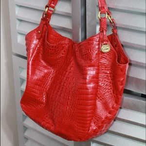 Brahmin Handbags - Brahmin Melbourne Stachel Red
