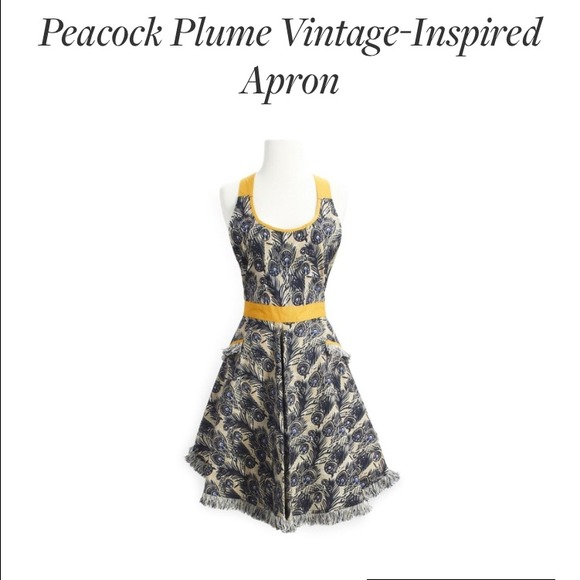 Nwt Sur La Table Peacock Plume Apron Nwt