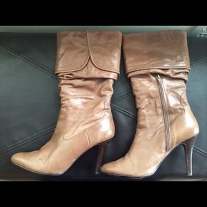 Tan leather Aldo boots