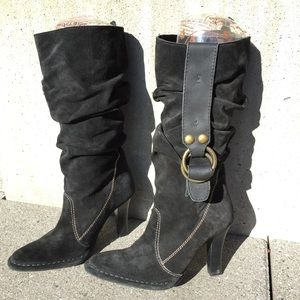 [SALE]✨Steve Madden slouchy black suede boots
