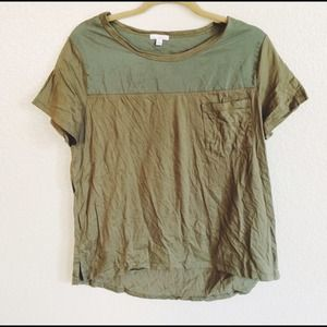 GAP Tops - Military Green Pocket Tee