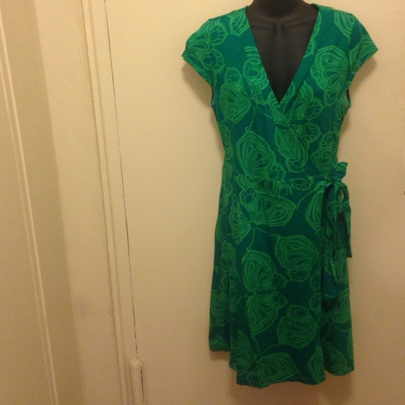 Print Wrap Dress H&m