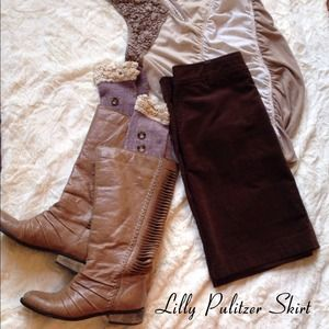 Lilly Pulitzer Corduroy Skirt NWOT