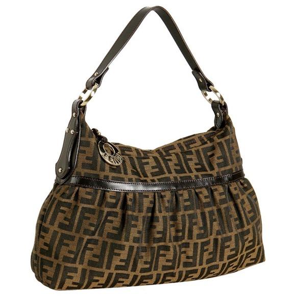 8a57b8a2fd64 FENDI Handbags - Fendi dark brown zucca canvas  Chef  ...