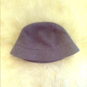 Grey Fuzzy 90s Bucket Hat
