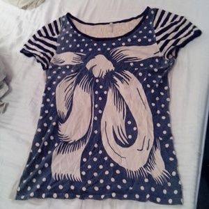 Modcloth bow shirt size medium