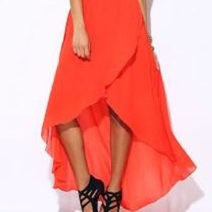 off Forever 21 Dresses & Skirts Neon orange flowy #1: s 544ac5a693c e189