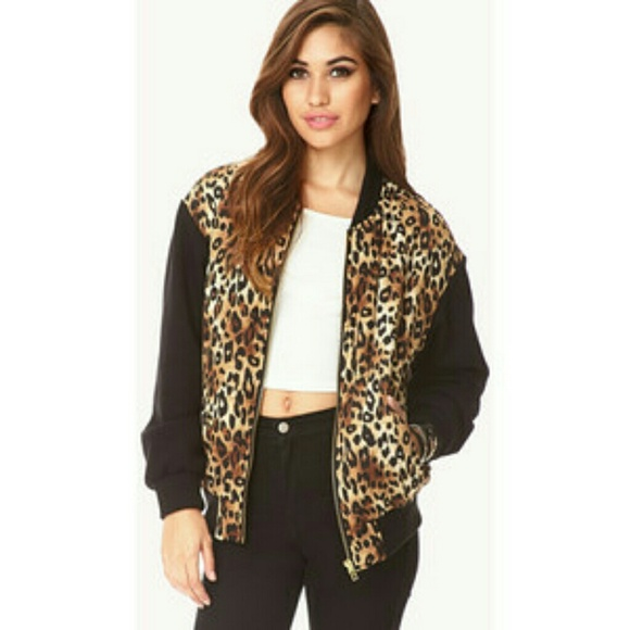 Forever 21 - SOLD IN BUNDLE Forever 21 leopard bomber jacket from