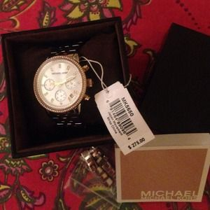 PARTYSALEMICHAEL KORS tri tone watch