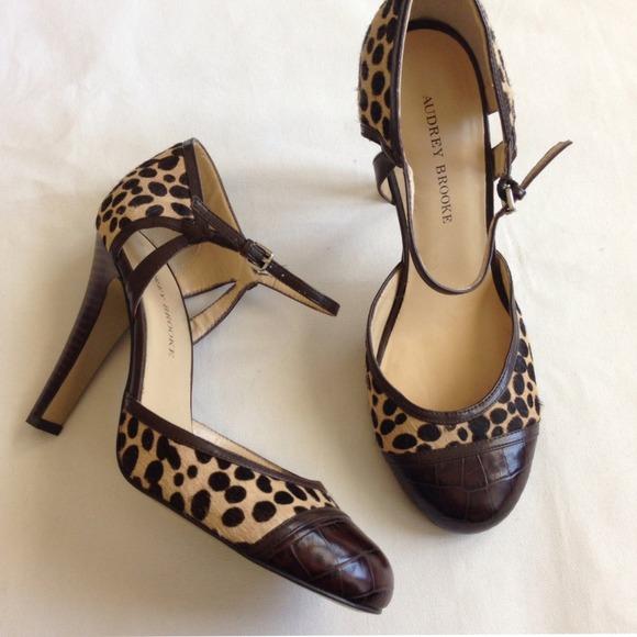 6d4799697b12 Audrey Brooke Shoes - Audrey Brooke Leopard Print Pumps