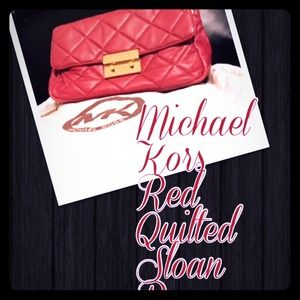 Michael Kors Red Quilted Sloan bag