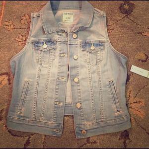 Old Navy Jean vest xs
