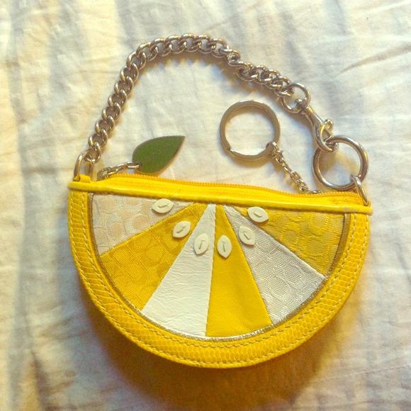 Coach Bags Rare Limited Ed Lemon Wedge Coin Bagpurse Poshmark