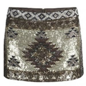 All saints sequins mini skirt US 6