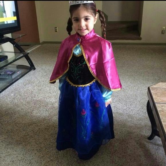 other frozen princess anna halloween costume girl dress - Halloween Anna Costume