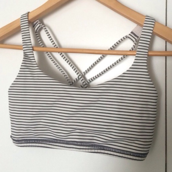 d7df38860a222 lululemon athletica Other - Lululemon Athletica Black Striped Sports Bra