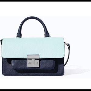 Zara messenger bag with metal clasp