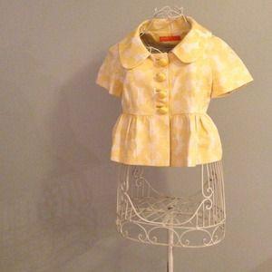 Cynthia Steffe Jackets & Blazers - {cynthia steffe} Floral Button Crop Jacket