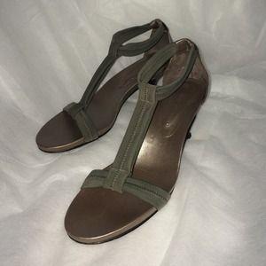 Donald J. Pliner Shoes - Donald J Pliner Grey Elastic Sandal
