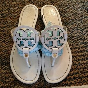 White  Tory burch miller sandals size 9