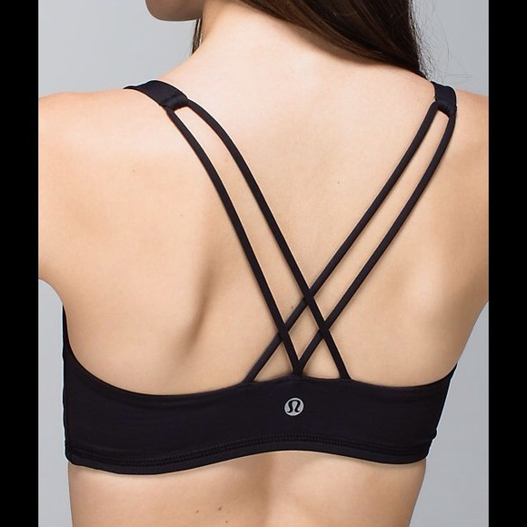 425d407214 lululemon athletica Tops - Sassy Lululemon Black Free to Be Sports Bra